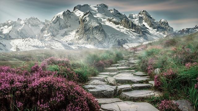 camino de montaña