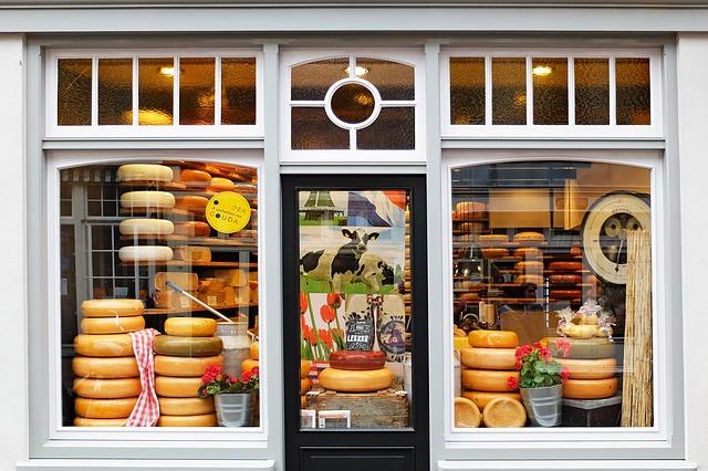 foto de tienda de quesos
