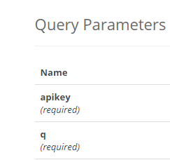 query parameters accuweather