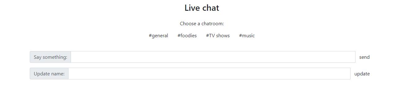 live chat estado inicial